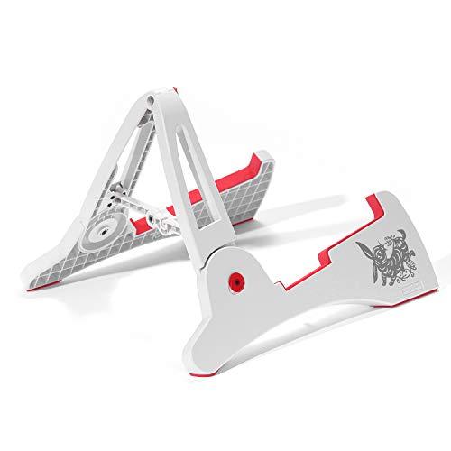 Plegable Soporte para guitarra eléctrica acústica soporte portátil–Soporte Color blanco
