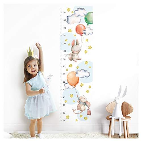 Little Deco Wandtattoo Kinderzimmer Junge Mädchen Messlatte | 150cm Löwe Maus Hase Luftballons | Tiere Wandaufkleber Kinder Wandsticker Aufkleber Dekoration DL372