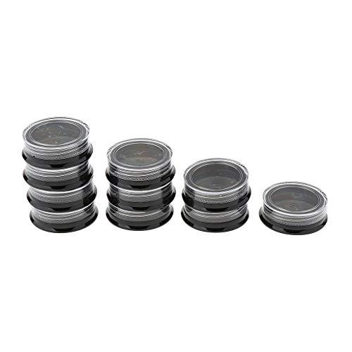 B Baosity 10x Pots Vides Bouteille Maquillage Voyage en Plastique Stockage Poudres Boîte De Rangement