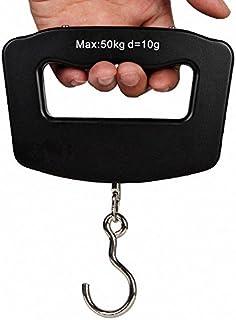 荷物 旅行はかり デジタル はかり 計量 器 携帯式デジタル スケール ステンレス仕上げ 最大50kgまで量れる 吊り下げ式ラゲッジチェッカー 旅行 アウトドア ホームに最適の秤 便利 軽量 風袋引き機能付 シルバ