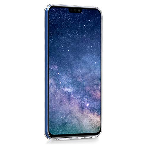 kwmobile Huawei Honor 8X Hülle - Handyhülle für Huawei Honor 8X - Handy Case in Galaxie Sterne Design Rosa Pink Dunkelblau - 2