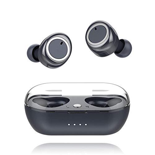 Draadloze Bluetooth headset, Bluetooth 5.0 workout headset aptX stereo, tot 9 uur afspeeltijd IPX7 zweetbestendige cVc 8.0 ingebouwde microfoon magnetische kluis voor hardlopen sportschool travel-blauw