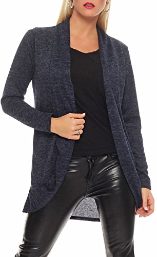 malito dames cardigan lang | Cardigan in elegant design | Trendy Oversize Look - Vest - Jas 5021