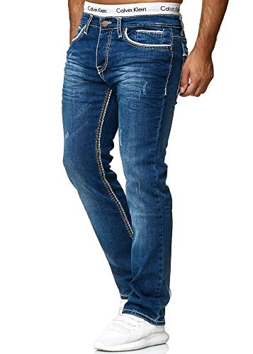 OneRedox Herren Jeans Denim Slim Fit Used Design Modell 5170 32