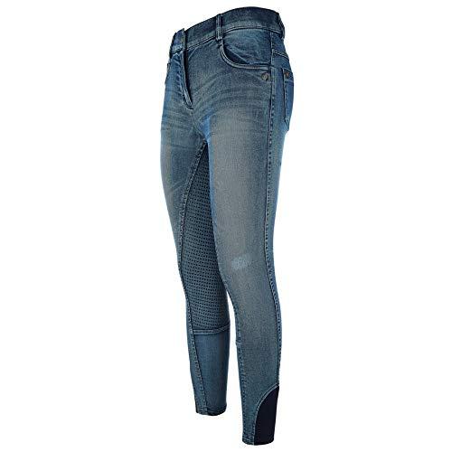 Imperial Reithose Denim Jeans Silikon Vollbesatz, Größe:40, Farbe:Jeansblau
