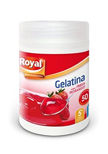 Royal Gelatina Fresa Hostelería - Paquete de 12 x 70.83 gr