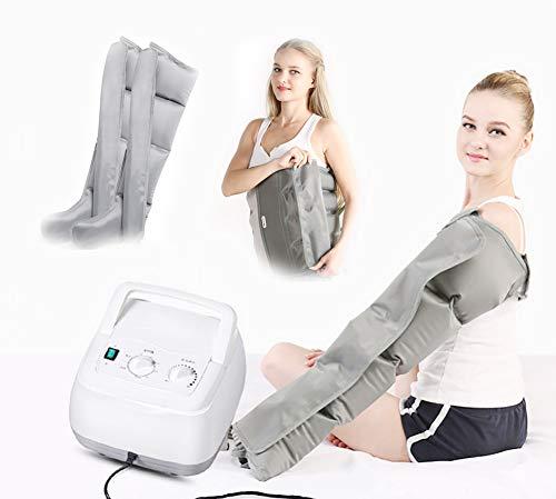 ZBAM Massaggiatore per Gambe, Compressione sequenziale Aerea Massaggiatore per Gambe Attivo Gamba/Braccio/Vita e Massaggio ai Piedi 4 Camera,G
