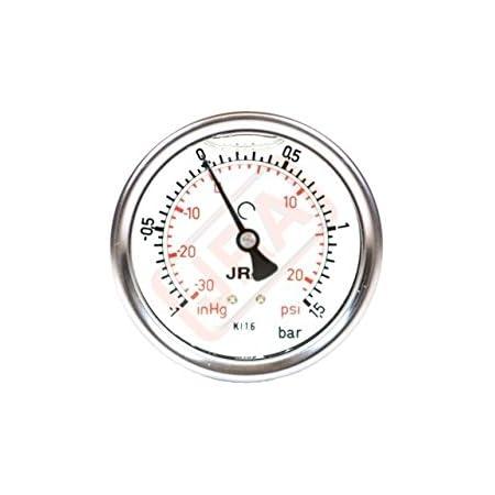 Manometro della glicerina JRA-Longlife 0-400 bar centrico G1//4 Dia.63