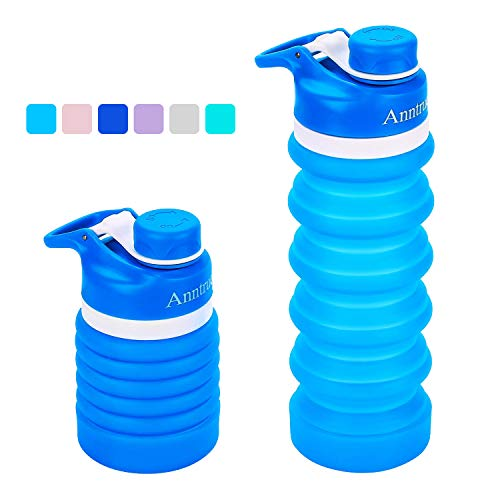 Anntrue Food-Grade Silicone Portable Leak Proof Travel Water Bottle