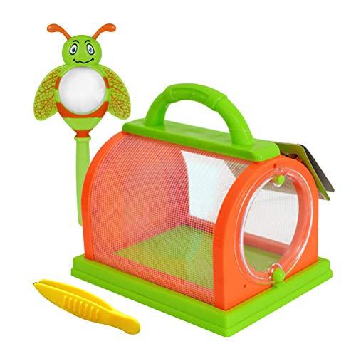 Toyvian 1 Juego Bug Bug Insecto Catching Kit Bug Toys Jaula de Insectos con asa de Transporte Niños Juguetes de exploración de la Naturaleza al Aire Libre para 3 años