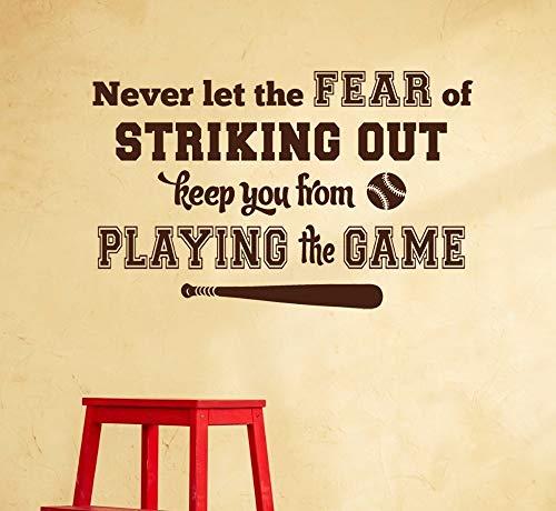 Muurstickers zullen je nooit bang maken en je niet in staat stellen om games te spelen. Muurdecoratie verwijderbare poster muurschildering 57x91cm