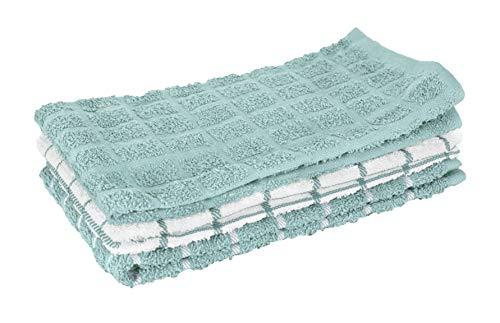 "RITZ 100% Cotton Terry Kitchen Dish Towel, 25"" x 15"", Dew"