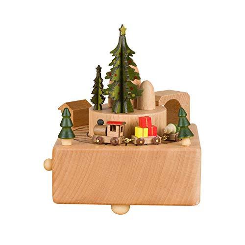 AIJOAN-BJ Sculture Di Animali Per La Casa Statue Decorative Arredamento Carillon Di Natale In Legno Trenino Regalo Di Compleanno