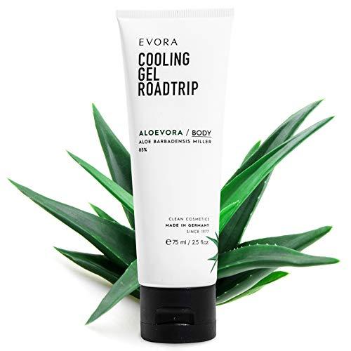 EVORA© Aloevora Cooling Gel - Aloe Vera Hautpflegemittel mit Panthenol - After Sun Kühlgel für die Haut