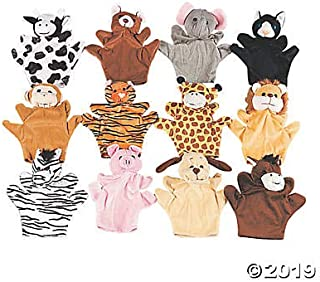 12 DELUXE Soft Plush Velour Animal Hand Puppets with arms and legs - NEW - Farm Zoo Safari Animals