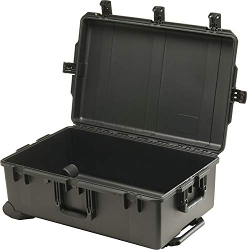 PELI Storm IM2950 Maleta Grande Impermeable con Ruedas para el Transporte de Equipos electrónicos Profesionales, Resistente al Agua y Polvo, 128L Capacidad, Fabricada en EE.UU, sin Espuma, Color Negro