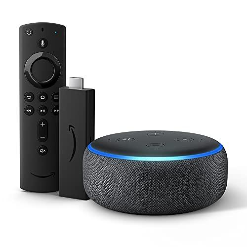 Echo Dot (3ª generazione) - Tessuto antracite con Fire TV Stick 4K