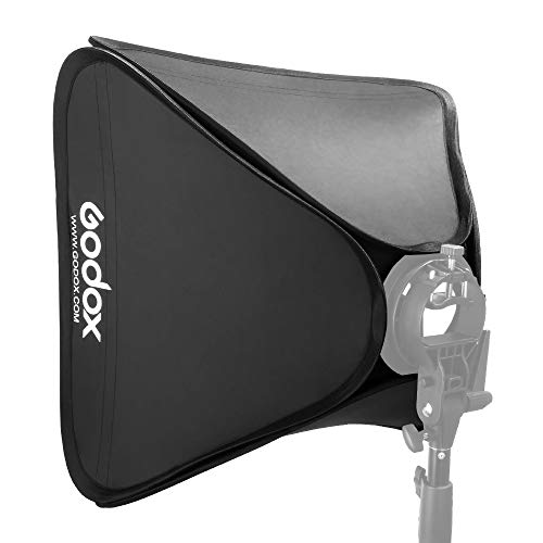 "Godox 24""x24""/60cmx60cm Portable Collapsible Softbox Kit for Camera Photography Studio Flash fit Bowens Elinchrom Mount"