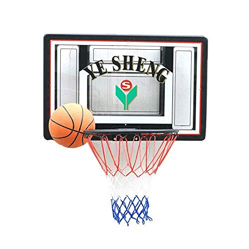 CHENXU Wall Mounted Basketball Hoop Set Outdoor/Indoor Basketball Hoop,Wall Mounted Transparent Backboard Teens Backboard,Net Set Hanging Basketball Hoop Outdoor Sport for Kids(90x60cm)