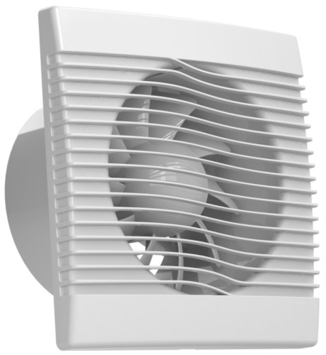 Ventilator Badlüfter Wandventilator Lüfter Ø 100, 120, 150 mit Nachlaufrelais, Feuchtesensor Timer, WC Bad Küche, AirRoxy pRim (Ø 150)