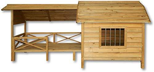 Jaula de madera con tejado a dos aguas, de madera grande, resistente a la intemperie,Wooden