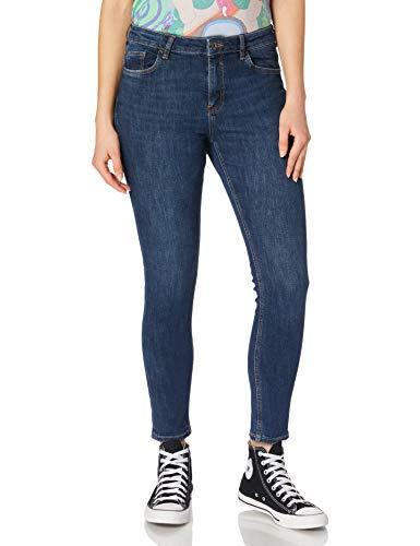 edc by ESPRIT Damen 110CC1B321 Jeans, 901/BLUE Dark WASH, 31/28