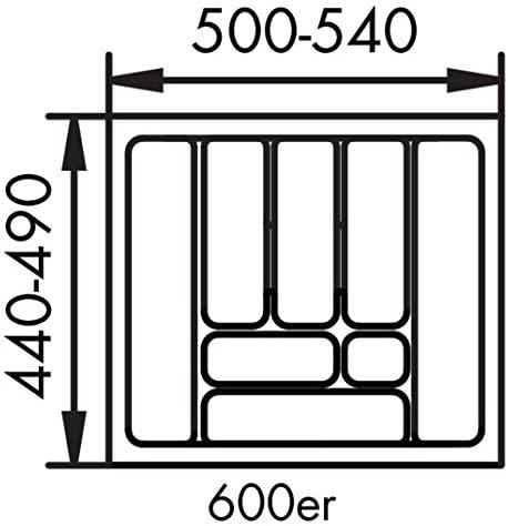 NaberMehrzweck EinsatzBesteckeinsatz Besteckkasten450er Schrank