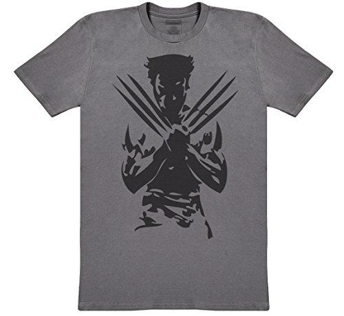 Wolverine Herren T-Shirt - Herren T-Shirt Geschenk - Charcoal Grau, Medium
