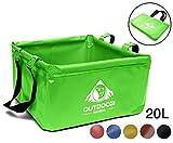 Outdoor Panda: Outdoor Faltschüssel 20 Liter | Faltbare Camping Waschschüssel aus langlebigem...