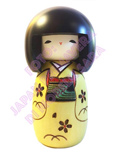 Japan Printemps Poupée Kokeshi Innocence Jaune