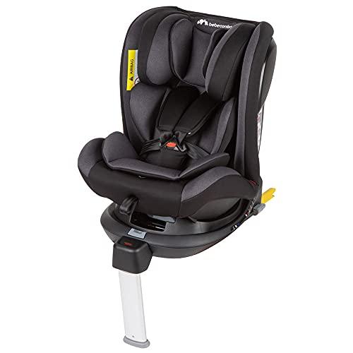 Bebe Confort EvolveFix Seggiolino auto 0-36 kg isofix girevole a 360°, Gruppo 0/1/2/3 dalla nascita a 12 anni, Reclinabile ed Evolutivo, Grigio (Night Grey)