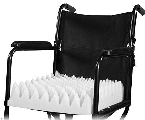 PCP Wheelchair Cushion Convoluted Foam Egg Crate, White
