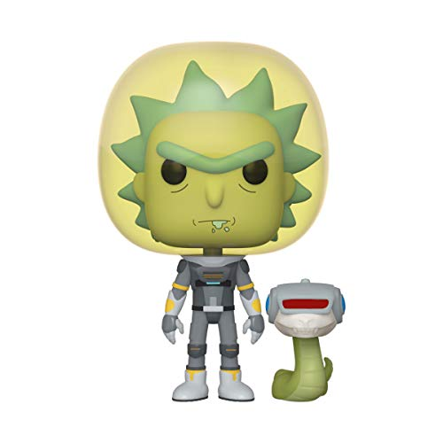 Funko- Pop Animation: Rick & Morty-Space Suit Rick w/Snake and Morty Collectible Toy, 45434, Multicolour