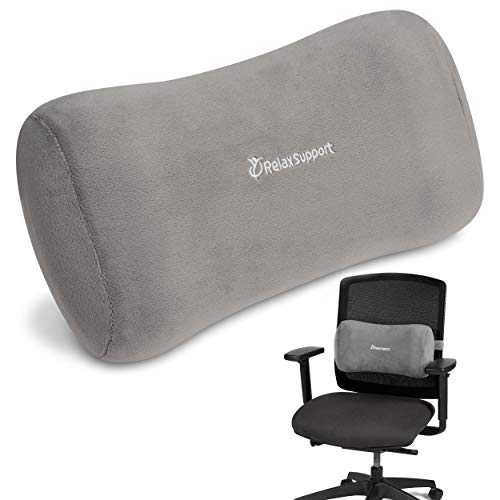 lower back support pillows RELAX SUPPORT Office Chair Back Support Pillow RS11-X Lumbar Cushion for Upper and Lower Back Pain Uses Special Patented Technology Has Unique Lateral Convex Orthopedic Shape for a Pain Free Back