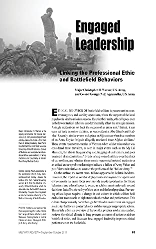 Military Review 2011: Engaged Leadership: Linking The Professional Ethic And Battlefield (English Edition)