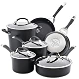 Circulon Symmetry Hard Anodized Nonstick Cookware Pots and Pans Set, 11-Piece, Black