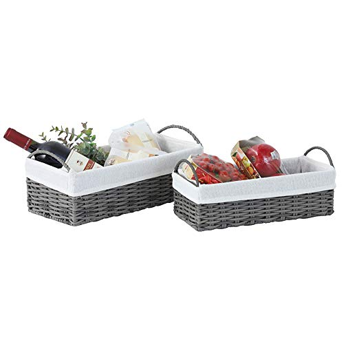 small wicker basket with liner - 2