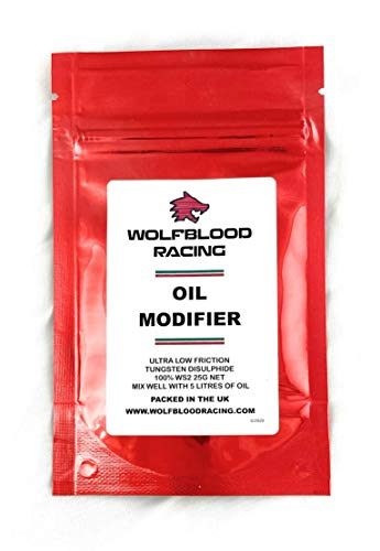 Wolfblood Racing Oil Modifier Reibungsreduzierer Pulver Additiv 25 g Packung - behandelt 5 Liter Motor- oder Getriebeöl