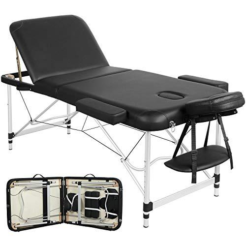 Yaheetech Massageliege mobile 3 Zonen Massagetisch Massagebank Massagebett Kosmetikliege klappbar höhenverstellbare Aluminiumfüße bis 250kg belastbar 70cm Breite
