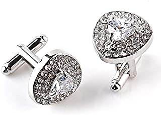 SOLDOUT™ Men's Shirt Cufflinks Classic Glittering Stones Cuff Links Party Wedding Casual Shirt Cuff Buttons Luxury Jewelry