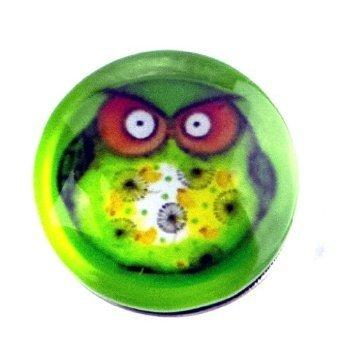 Extravagante très joli collier moderne perle originale en verre et perle en verre, chunk click button bouton pression pour bijou femme à motif chouette vert motif les schielende