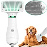 LIVEKEY Pet Hair Dryer, 2 in 1 Home Pet Grooming Hair Dryer with Slicker Brush, Dog Hair...