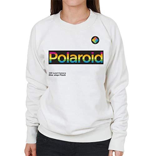 Polaroid Logo 320 Land Camera Women's Sweatshirt White