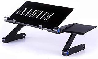 ZZWBOX Escritorio portátil Plegable de la computadora portátil Escritorio portátil de la computadora Escritorio de la computadora con el radiador Mesa Perezosa Mesa Plegable,Black(Extendedversion)