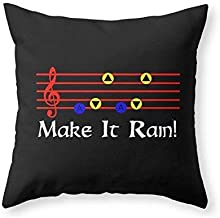 imouSde Make It Rain! - Song of Storms (The Legend of Zelda: Ocarina of Time) Decorative Throw Pillow Covers 18x18 Farmhouse Couch Cushion Covers Gifts for Girls,for Women,for Mom
