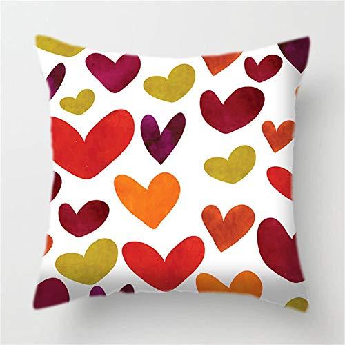 Fundas de Cojín Decorativos Amor colorido Cuadradas Terciopelo Suave Funda de Almohada Cubierta para Cojines Sofá Sala de Estar Dormitorio Cama Decorativo Throw Pillow Case Pillowcase,40x40cm T8193