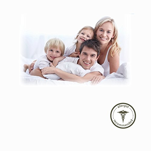 AllerEase 100% Cotton Allergy Protection Medium Density Body Pillow - Breathable, Hypoallergenic Fiber Fill, Prevents Buildup of Dust Mites and Household Allergens, Allergist Recommended, 20 x 54