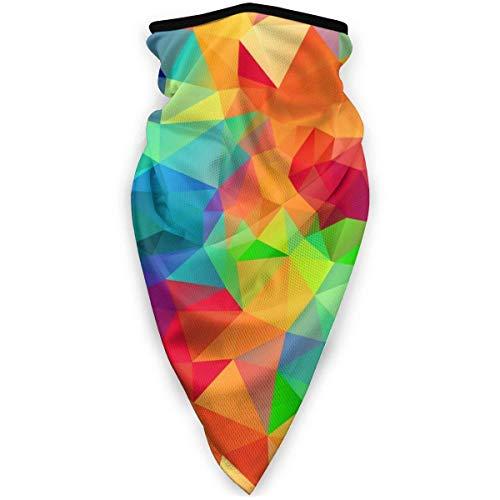 NA Winddichtes Halstuch für Ski- und Motorrad-Maske – Crazy Colors Polygon
