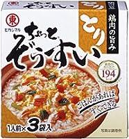 ヒガシマル醤油株式会社 ヒガシマル ちょっとぞうすい(とり) 3袋箱 ×60個