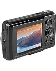 مسجل كاميرا رقمية، كاميرا فيديو رقمية صغيرة عالية الدقة زووم 16X للأطفال المراهقين للمبتدئين في الهواء الطلق (ذهبي) (اللون : أسود)